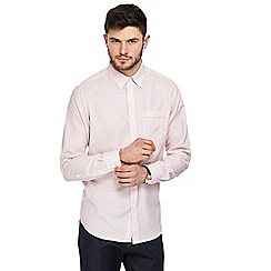 The Collection - Big and tall pink tiled print shirt