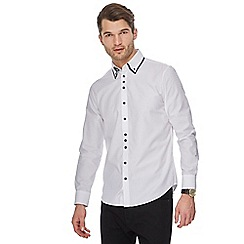 The Collection - White double collar tailored fit shirt