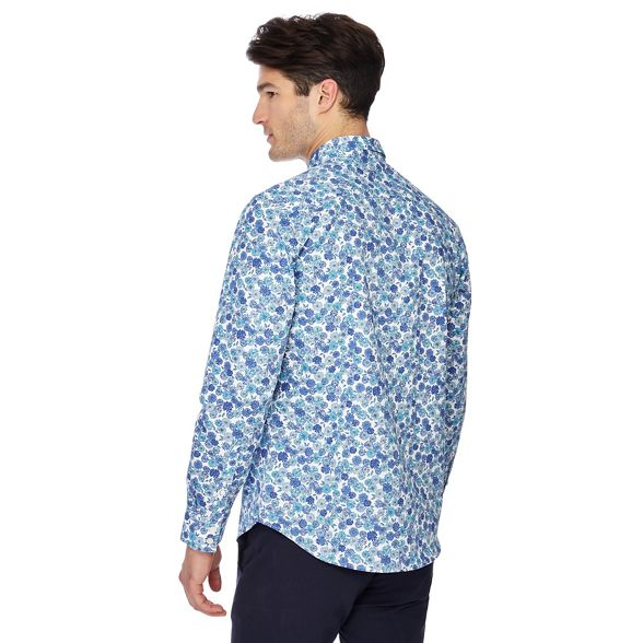 Collection shirt blue Big print tailored and floral tall fit The AHqxIzwdA