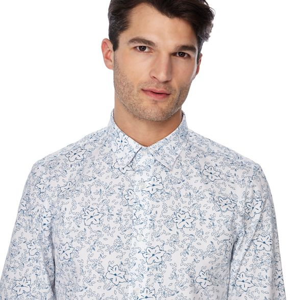 fit shirt and white tall The Collection floral Big print tailored wqBW7O