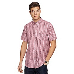 The Collection - Wine red zig zag print short sleeve shirt