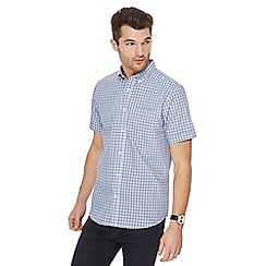 The Collection - Big and tall light blue checked shirt