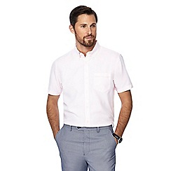 The Collection - Big and tall pink button down collar short sleeve regular fit oxford shirt