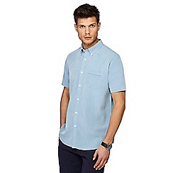 The Collection - Blue button down collar short sleeve regular fit Oxford shirt