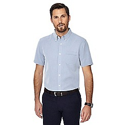 The Collection - Navy button down collar short sleeve regular fit Oxford shirt