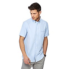 The Collection - Big and tall light blue button down collar short sleeve regular fit oxford shirt