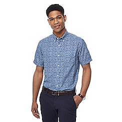 The Collection - Big and tall navy short sleeve daisy print shirt