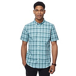 The Collection - Big and tall green jigsaw checked tailored fit shirt