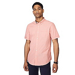 The Collection - Blue checked button down collar short sleeve tailored fit shirt