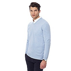 The Collection - Light blue V-neck marl jumper