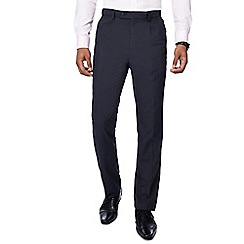 The Collection - Navy textured regular fit trousers