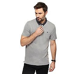 The Collection - Grey textured collar polo shirt