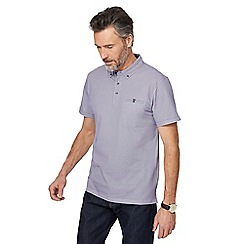The Collection - Big and tall purple arrow print polo shirt