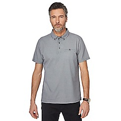 The Collection - Big and tall black arrow print polo shirt