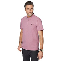 The Collection - Big and tall dark pink zig zag print polo shirt