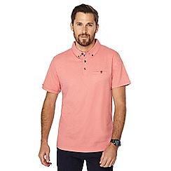 The Collection - Big and tall orange zig zag print polo shirt