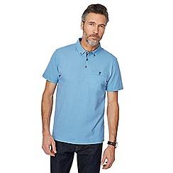 The Collection - Blue zig zag print polo shirt