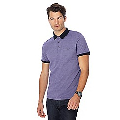The Collection - Big and tall purple fine stripe print polo shirt