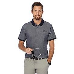 The Collection - Navy brick jacquard texture polo shirt