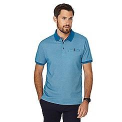 The Collection - Blue brick jacquard texture polo shirt