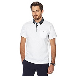 The Collection - Big and tall white contrast collar polo shirt