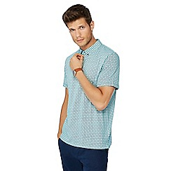 The Collection - Big and tall green spot print polo shirt