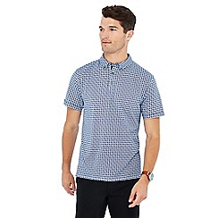 The Collection - Big and tall blue spot print polo shirt