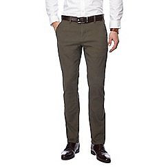 The Collection - Khaki slim fit belted chinos