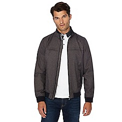 The Collection - Big and tall grey shower resistant Harrington jacket