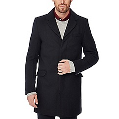 The Collection - Black wool blend epsom coat