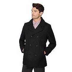 The Collection - Black double breasted pea coat
