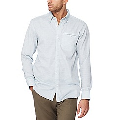 The Collection - White stitched square long sleeve tailored fit shirt