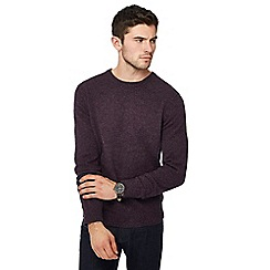 The Collection - Big and tall purple crew neck lambswool blend jumper