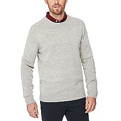 The Collection - Light grey lambswool blend jumper