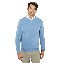 The Collection - Pale blue V-neck jumper