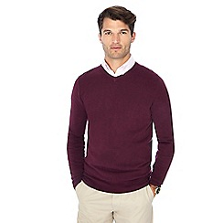 The Collection - Plum V-neck jumper