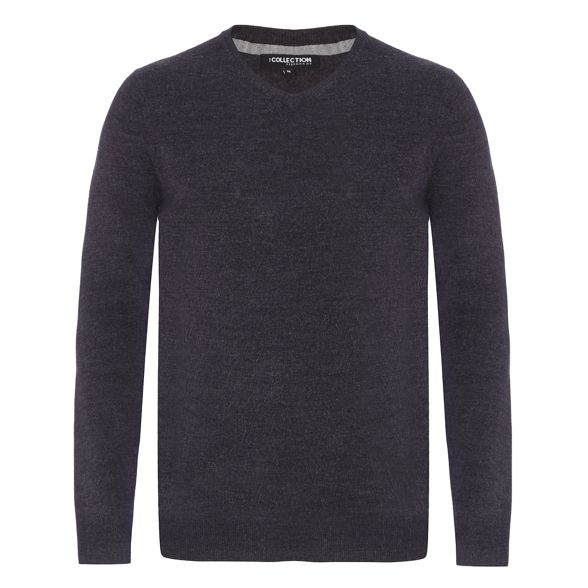 Big neck The V dark jumper grey and Collection tall UqyfwxqAO