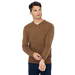 The Collection - Tan V-neck jumper