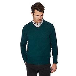 The Collection - Dark green lambs wool blend jumper