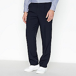 The Collection - Big and tall navy plain regular trousers