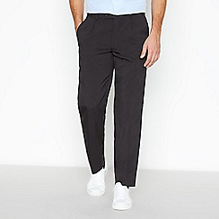 The Collection - Big and tall grey plain regular trousers