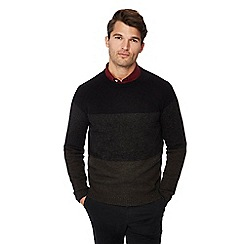 The Collection - Grey lambs wool blend striped jumper