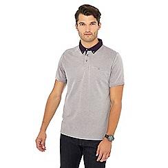 The Collection - Big and tall plum woven collar polo shirt