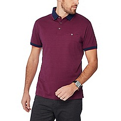 The Collection - Dark purple fine stripe print polo shirt