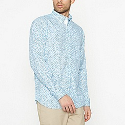 The Collection - Light Blue Floral Long Sleeve Classic Fit Shirt
