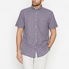 The Collection - Big and tall purple arrow short sleeve classic fit shirt