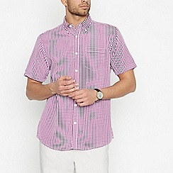 The Collection - Pink Gingham Check Short Sleeve Classic Fit Shirt