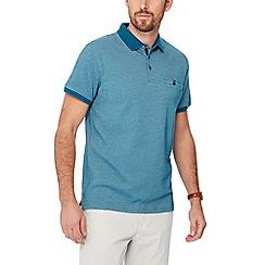 The Collection - Big and tall dark turquoise jacquard brick polo shirt