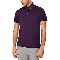 The Collection - Purple spot trim polo shirt