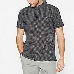 The Collection - Black Spotted Cotton Polo Shirt